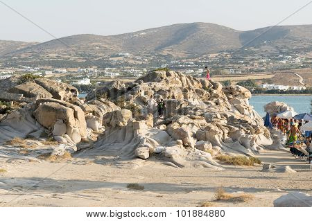 Paros, Greece, 06 August 2015. Kolymbithres beach landscape at Paros island in Greece.