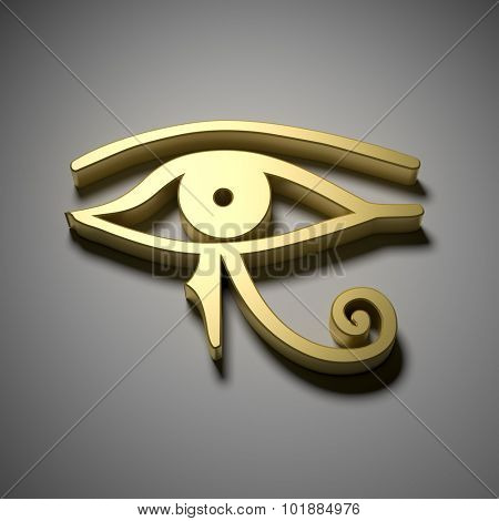 An image of a golden Egypt eye