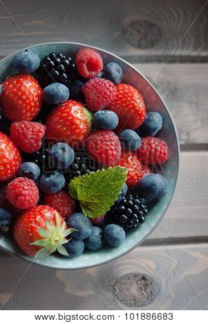 Fresh Berries Top View