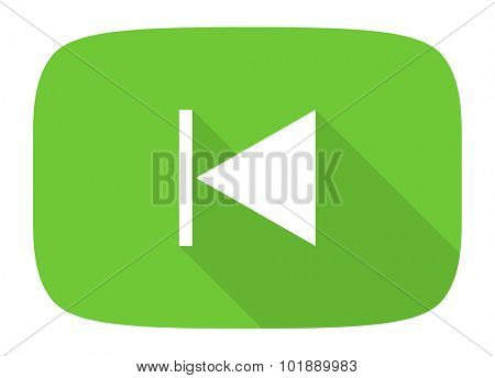 prev flat design modern icon with long shadow for web and mobile app