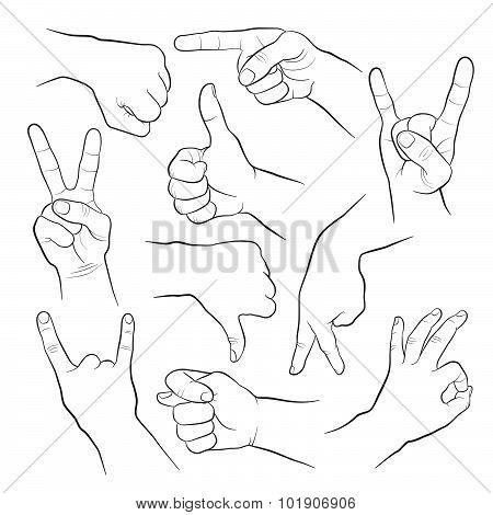 Human gesture