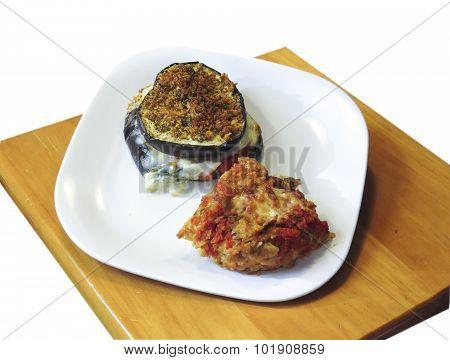 Chicken Bruschetta with Parm Stacks