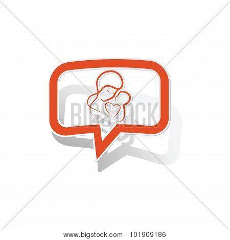 Mothercare message sticker, orange