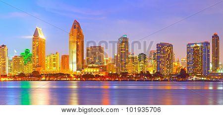 San Diego California city skyline