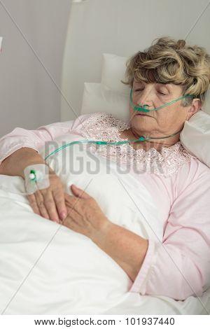 Terminally Ill Senior Woman