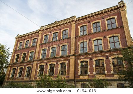 """The secondary school """"Alexander von Humboldt Gymnasium"""" in Werdau looks back on a history of more than 140 years the building was established in 1875 poster"""