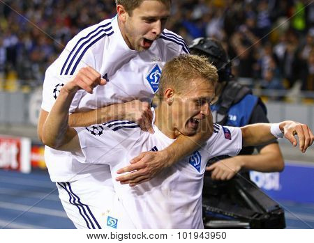 Artem Kravets And Vitaliy Buyalskiy Of Fc Dynamo Kyiv