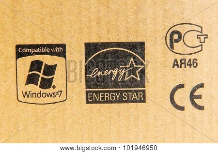 Compatible With Windows 7, Energy Star, Ce Mark And Russian Standard Signs