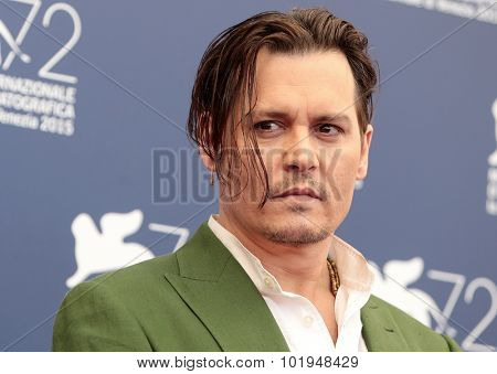 Johnny Depp at the photocall for Black Mass at the 2015 Venice Film Festival.