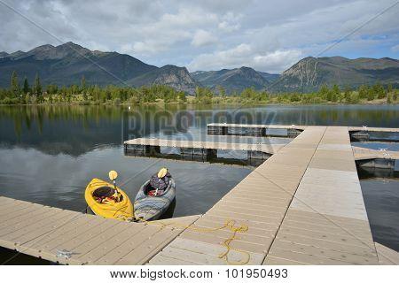 Kayaks At Mountain Dock