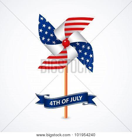 Pinwheel in national flag colors