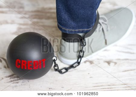 In slavery of credit concept