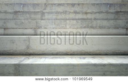 A section of empty concrete steps used for stadium seating poster