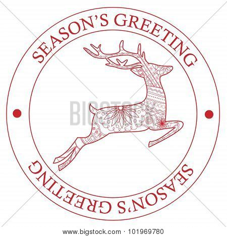 Season's Greeting Stamp