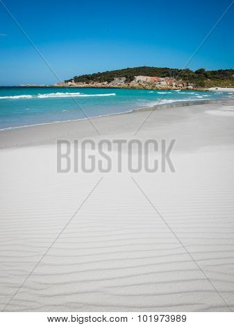 Perfect White Beach on Bay of Fires Tasmania Australia