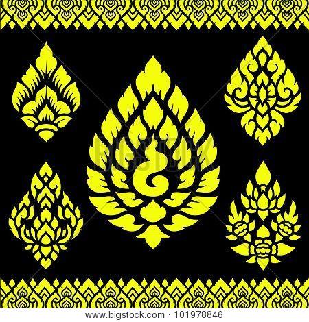 Asian traditional art Design Vector, Thai traditional design ( Lai Thai  )
