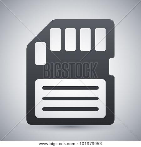 Vector Memory Card Icon
