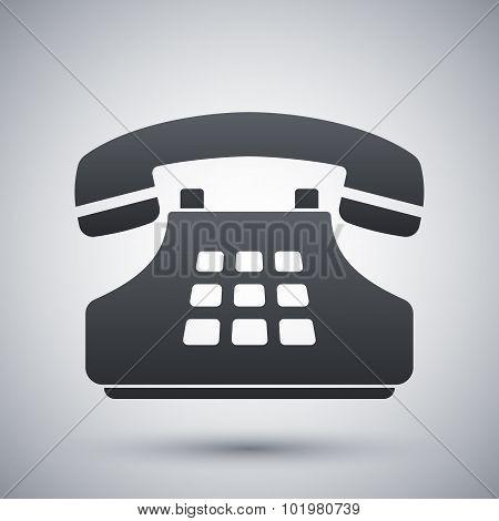 Vector Push-button Telephone Icon