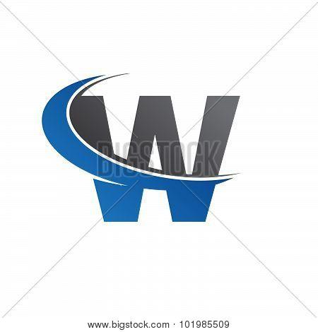 W blue swoosh logo