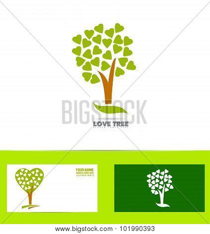 Tree Love Logo Concept