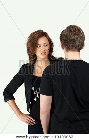 Young Couple In Angry Moment