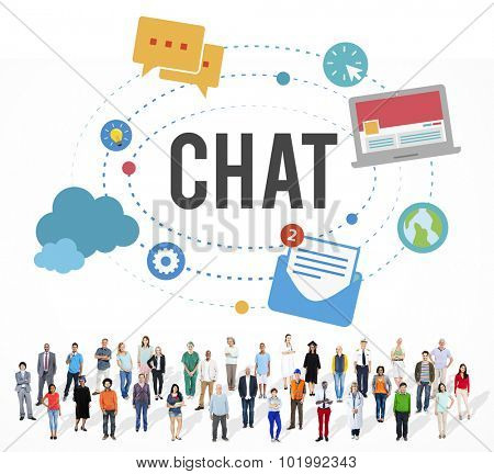 Chat Chatting Online Messaging Technology Concept poster
