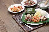 hawaiian traditional plate lunch,ahi poke,lomi lomi salmon,tako poke,kalua pork,poi,lau lau poster