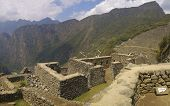Machu Picchu Mountain And Ruins