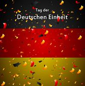Tag der Deutschen Einheit (eng. The Day of German Unity). Vector design poster