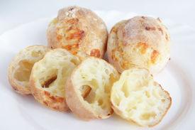 Freshly baking homemade cheesy bread