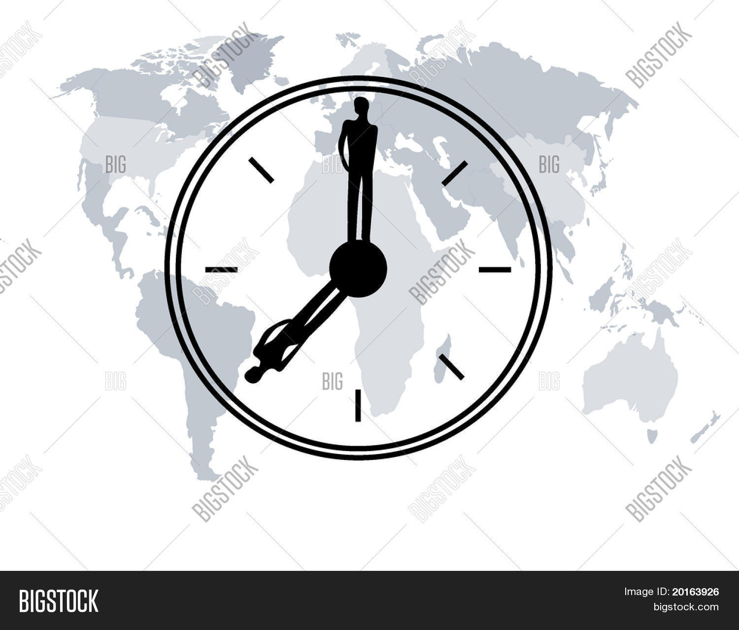 World map man woman vector photo free trial bigstock world map with man and woman silhouette as clock hands gumiabroncs Gallery