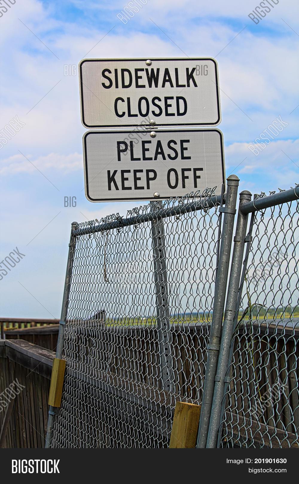 Sidewalk Closed, Image & Photo (Free Trial) | Bigstock