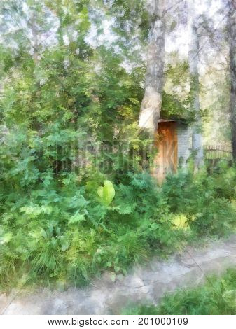 A Cozy Wooden House Hid In  Thickets Of Hops