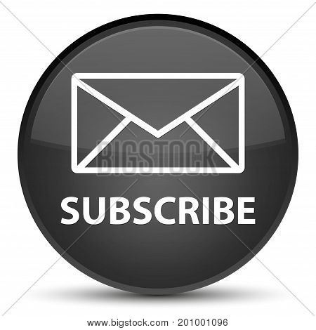 Subscribe (email Icon) Special Black Round Button