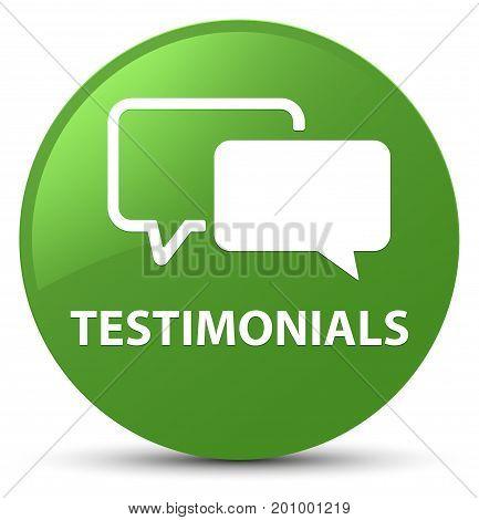 Testimonials Soft Green Round Button