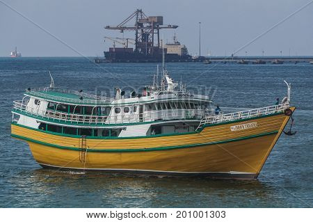 Labuan,Malaysia-Aug 2,2017:View of traditional vessel Philippines known as Kumpit in Labuan free port,Malaysia.This vessels engaged with Barter Trade between Philippines & Sabah,Malaysia