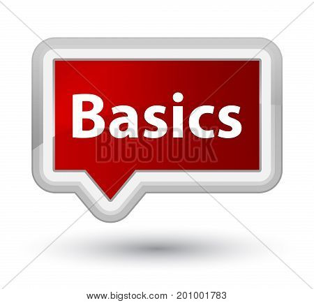 Basics Prime Red Banner Button