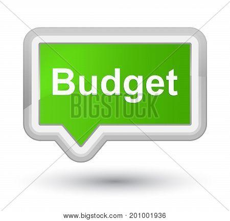 Budget Prime Soft Green Banner Button