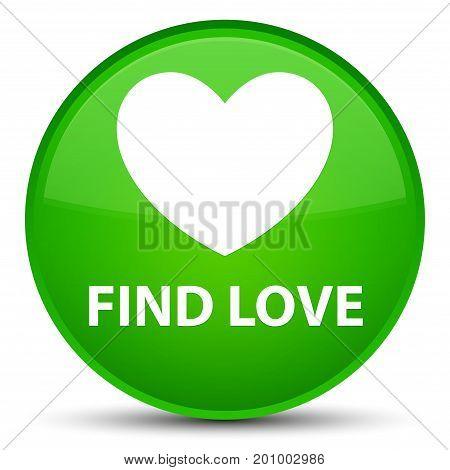 Find Love Special Green Round Button
