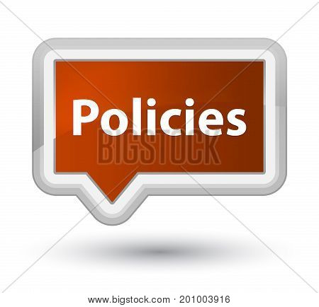 Policies Prime Brown Banner Button