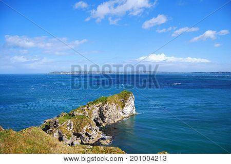Incredible cliffs in Northen Ireland near Antrim, Belfast