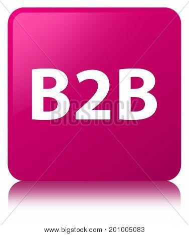 B2B Pink Square Button