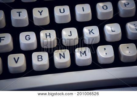 Full frame shot of typewriter buttons