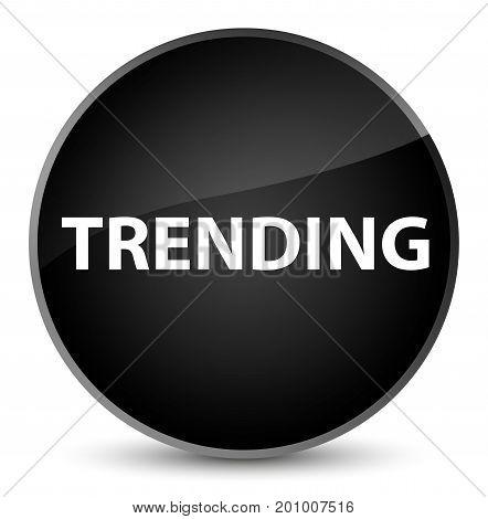 Trending Elegant Black Round Button