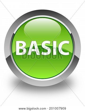 Basic Glossy Green Round Button