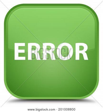 Error Special Soft Green Square Button