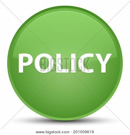 Policy Special Soft Green Round Button