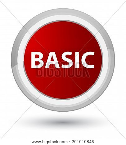 Basic Prime Red Round Button