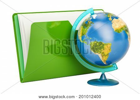 Geographical globe of planet Earth 3D rendering