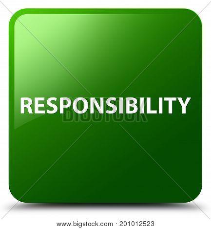 Responsibility Green Square Button